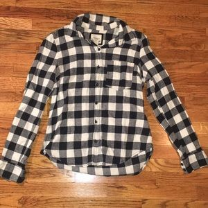 Forever 21, Black and White Flannel Shirt